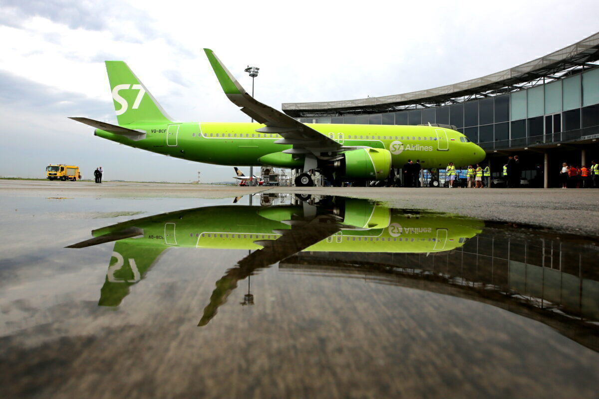 S7 Airlines receives first Russian Airbus A320neo jet airliner