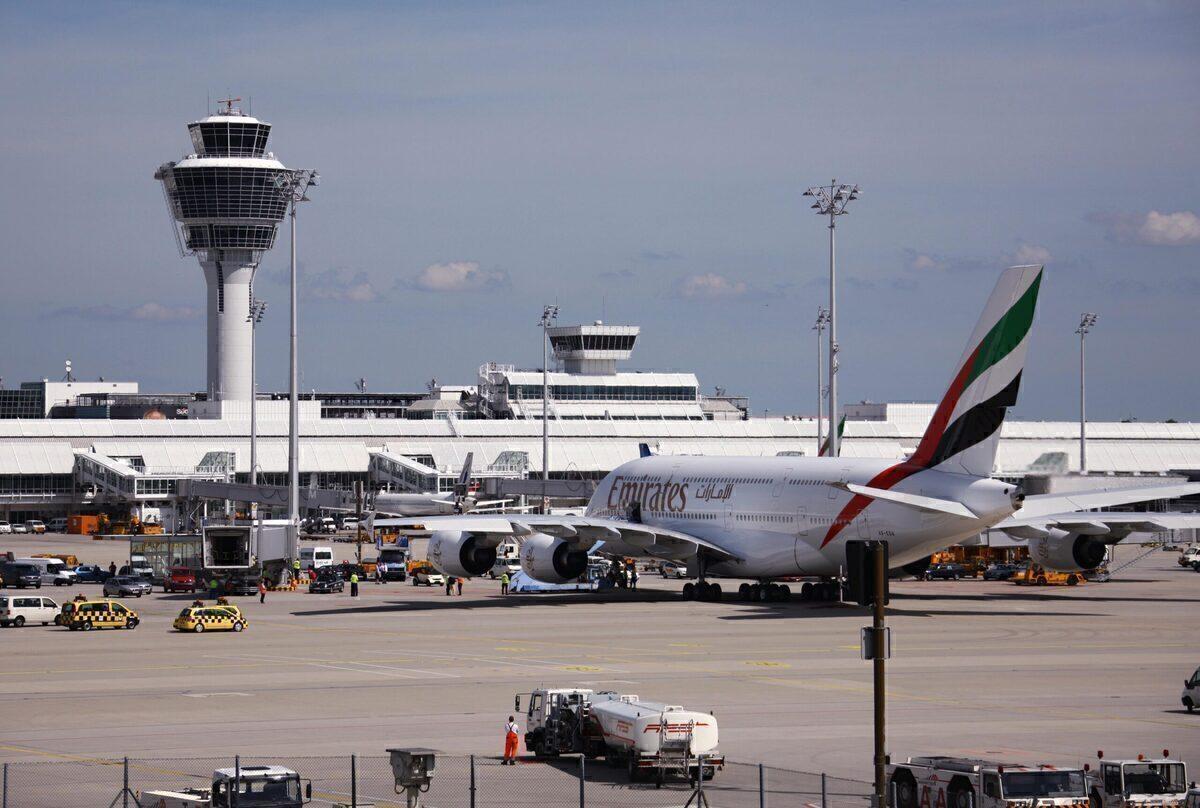 Emirates, Airbus A380, Munich