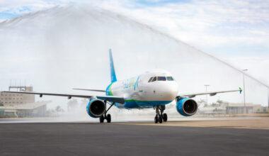 GlobalX A320 arrival