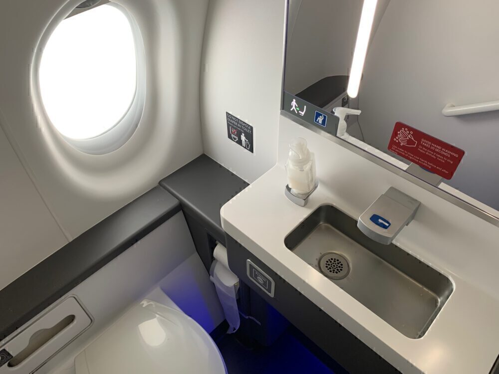 Lavatory with a window