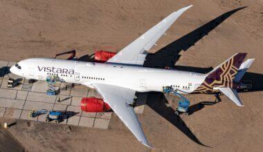 Vistara 787-9 parked