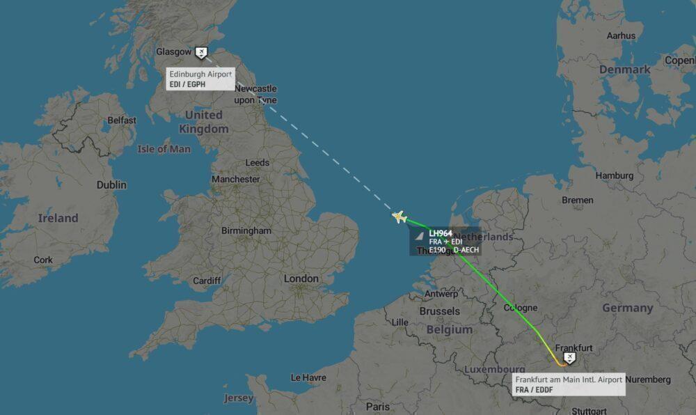 Lufthansa to Edinburgh