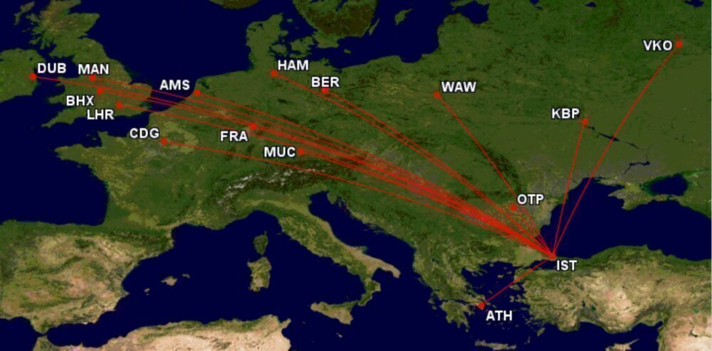 Turkish Airlines widebodies