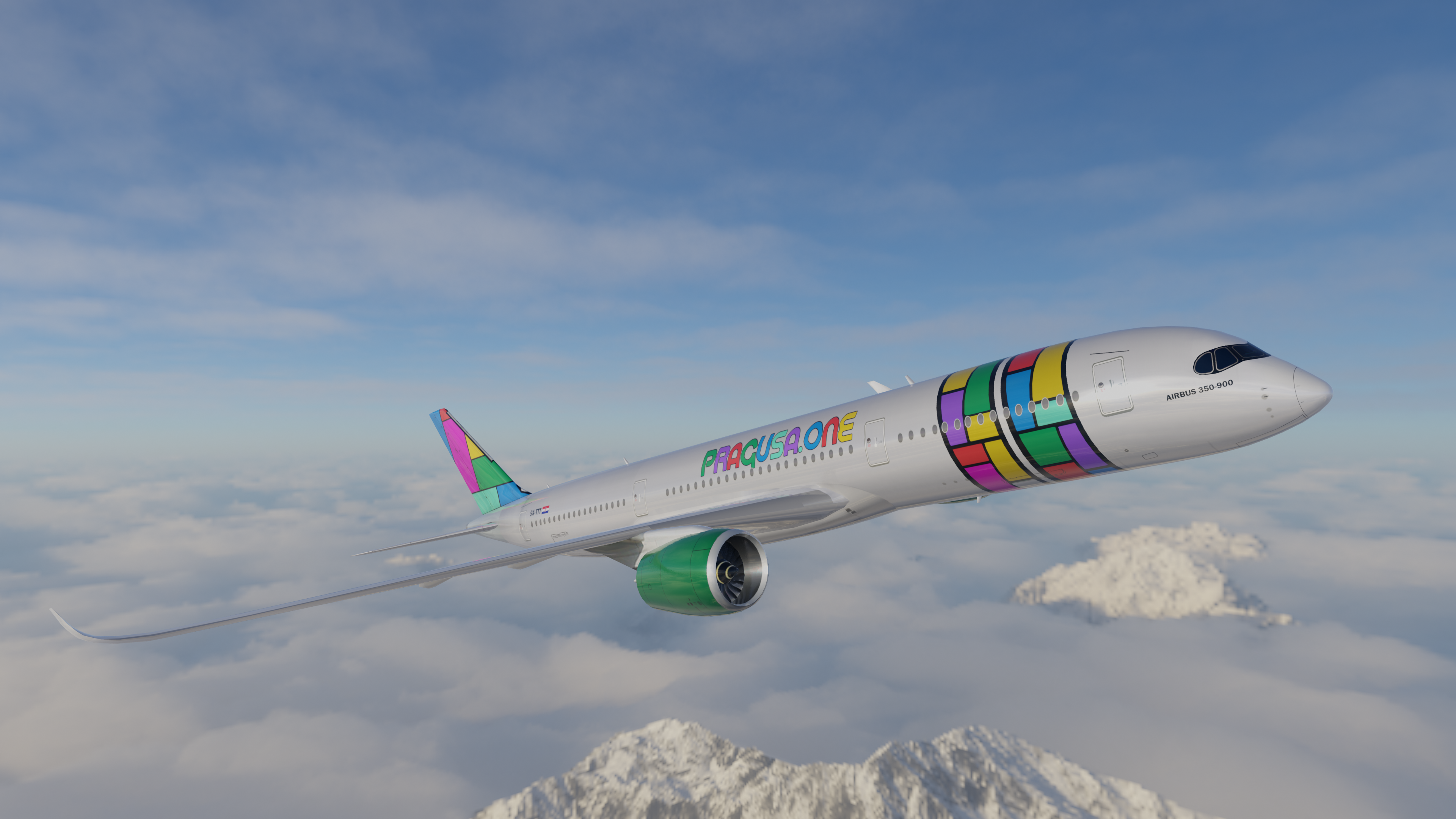 Coming Soon: An All Premium Economy Airbus A350 Startup Airline: PRAGUSA.ONE