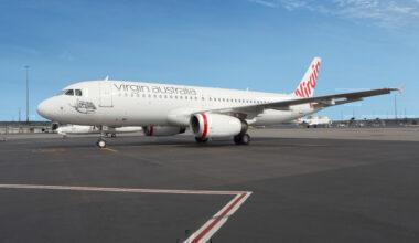Virgin Australia plane on the ground
