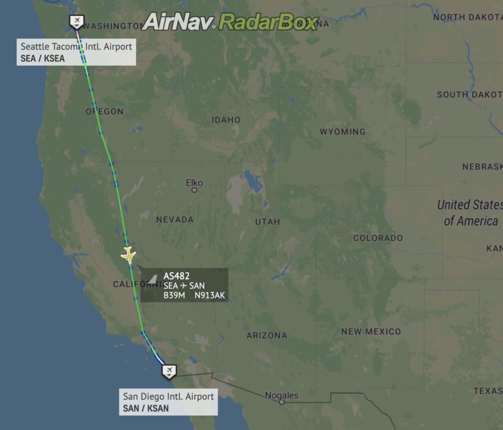 Alaska first MAX flight