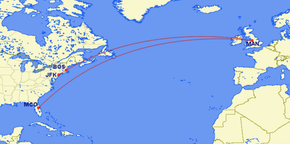 Manchester to US flights