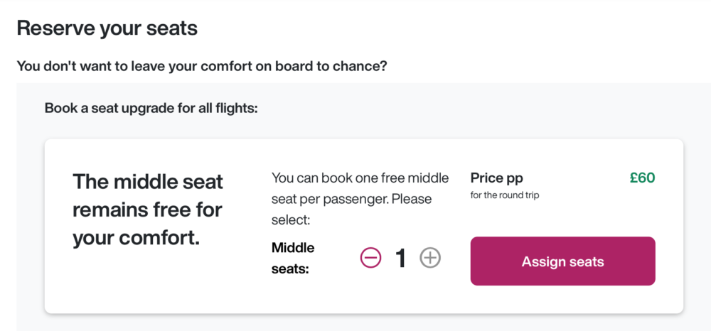 Eurowings Begins Selling Empty Middle Seats For Just $12