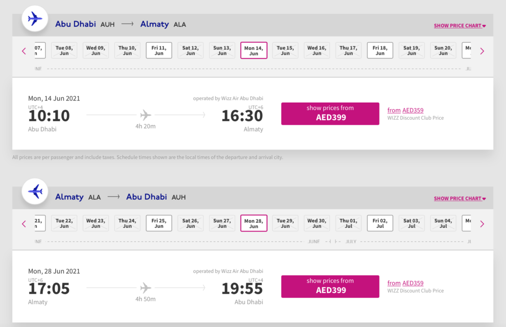 Wizz Air Booking