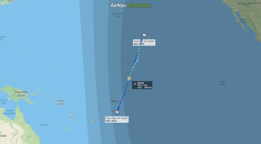 Hawaiian Airlines PPG RadarBox