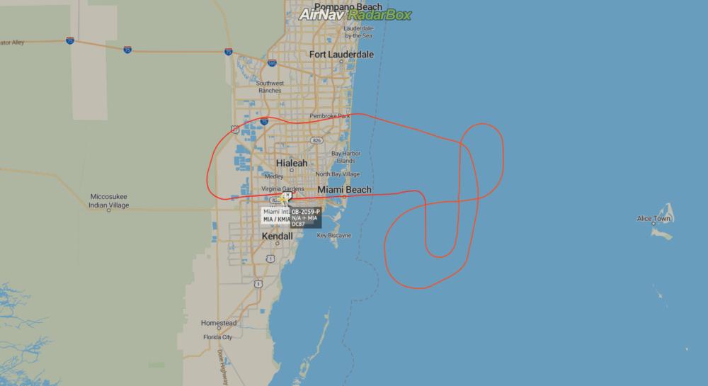 RadarBox DC-8 Miami