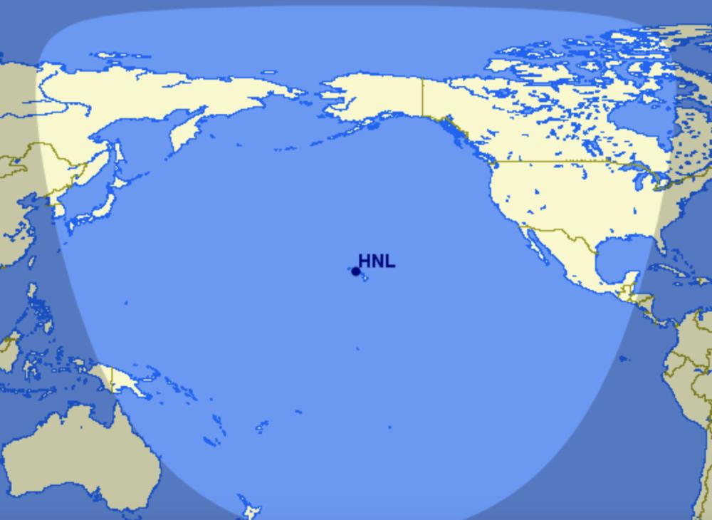 Hawaiian Airbus A321LR range