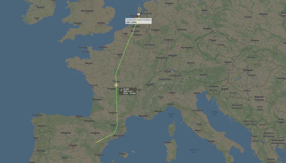 KLM's Last Boeing 747 Combi Leaves Amsterdam Schiphol Airport