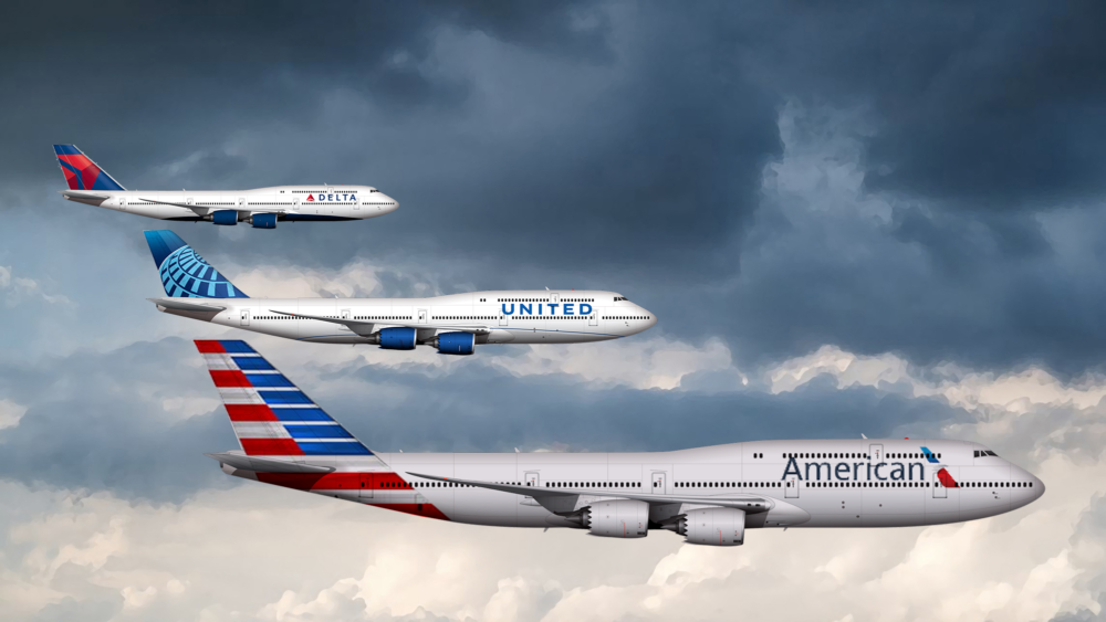 US Big Three Boeing 747-8