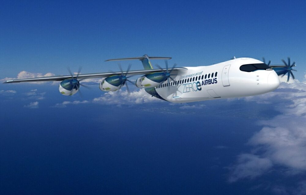 ZEROe fuel cell aircraft
