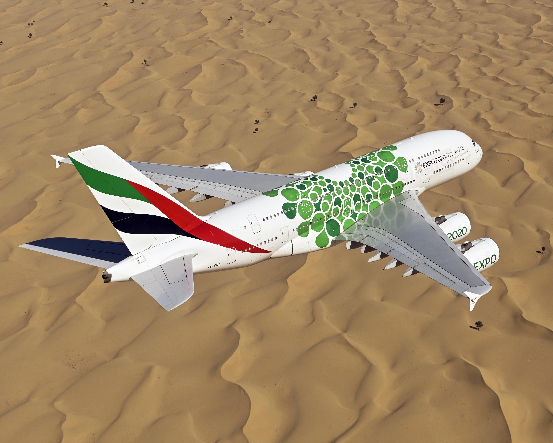 Emirates, Airbus A380, Amman