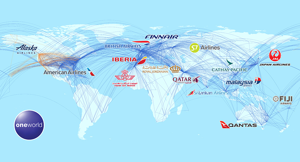Oneworld map
