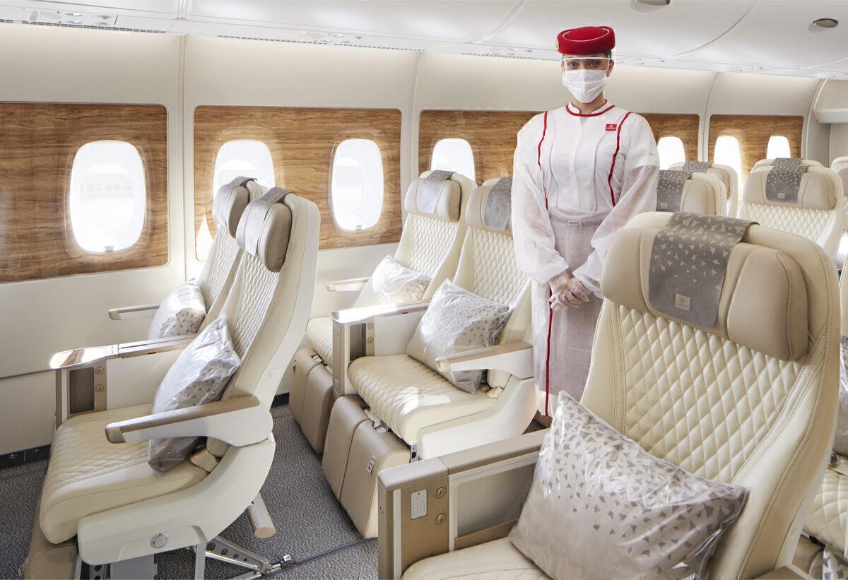 Emirates Airbus A380 with premium economy