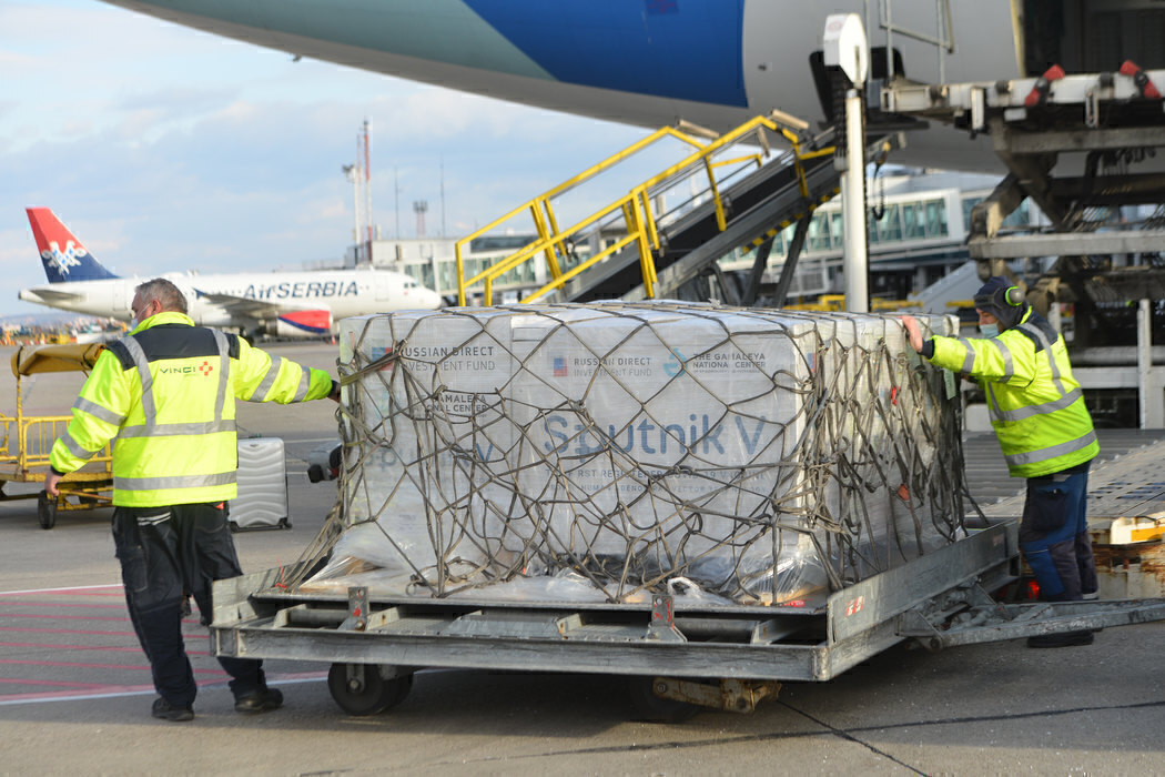Air Serbia Helps Deliver 100,000 Sputnik Vaccines To Belgrade