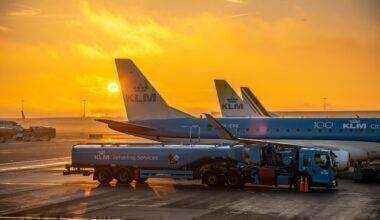 KLM refueling Schiphol