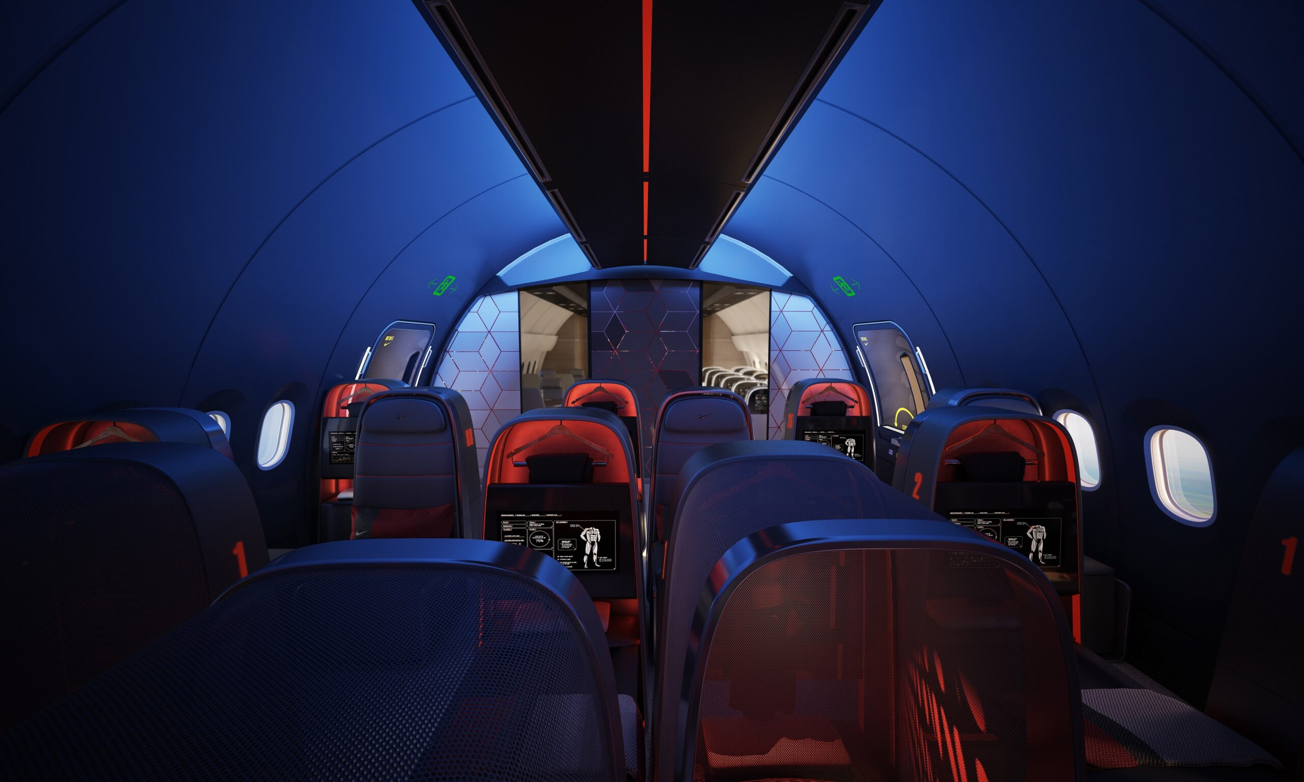 Swanky: Inside The Athletes Aircraft Cabin That Nike Helped Design