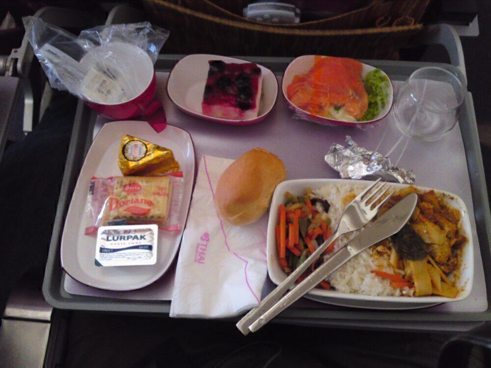 Thai Airways meal