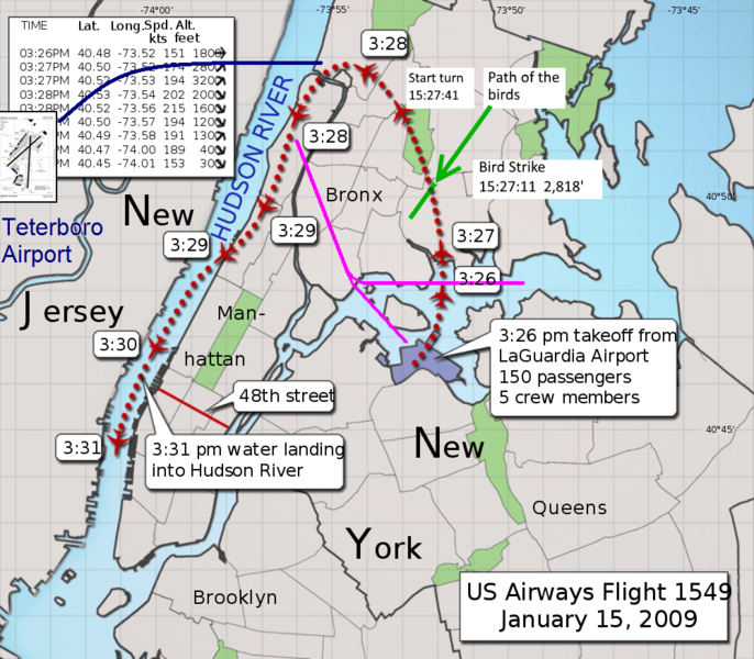 US1549 flight path