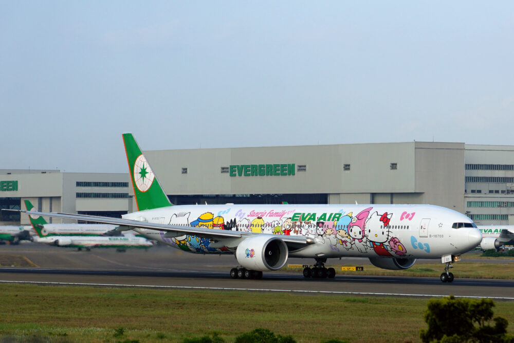 EVA Air Boeing 777-300ER (Hello Kitty Sanrio Family Livery)