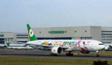 EVA Air Boeing 777-300ER (Hello Kitty Sanrio Family Livery)