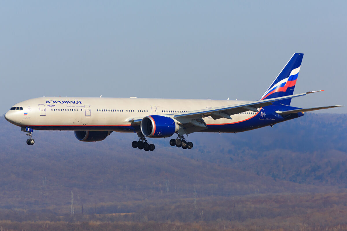 Aeroflot Boeing 777-300ER at Vladivostok Airport
