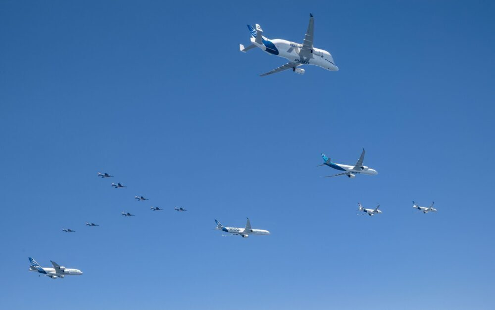 Remember When: Airbus Flew All Its Current Aircraft In Formation