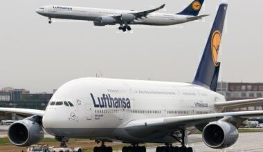 Lufthansa Airbus A340 & A380