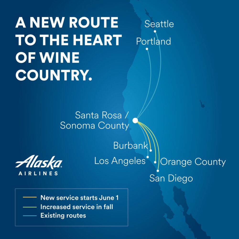 Alaska Airlines Santa Rosa