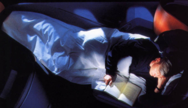 BA First Class 'Flying Bed' - Bed mode