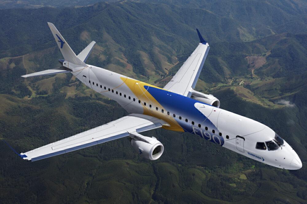 O avião de corredor único mais silencioso E2