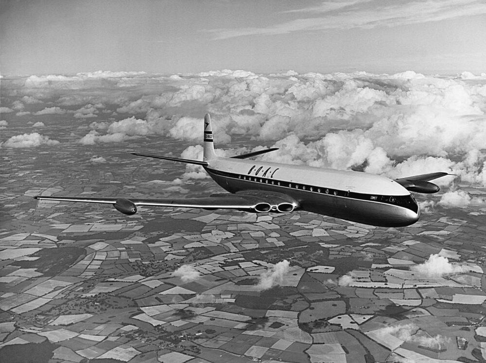 Photo Flight of DeHavilland Comet 3 Jet Transport