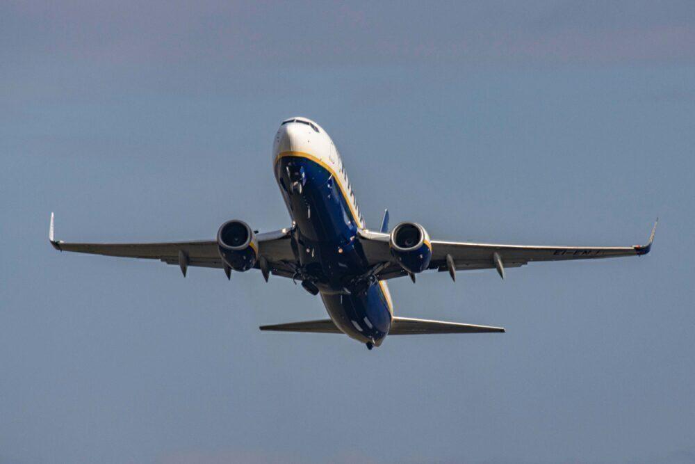Ryanair Boeing 737-800 Takeoff In Eindhoven