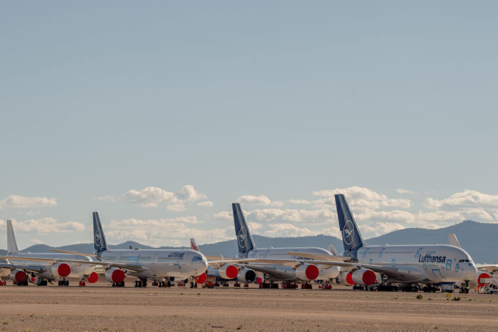 Lufthansa A340 and A380 Getty