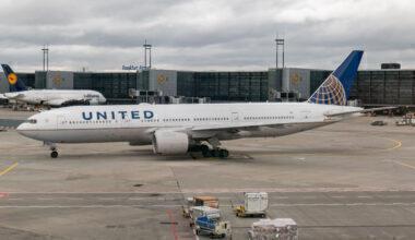 United Airlines Boeing 777-200 In Frankfurt Airport