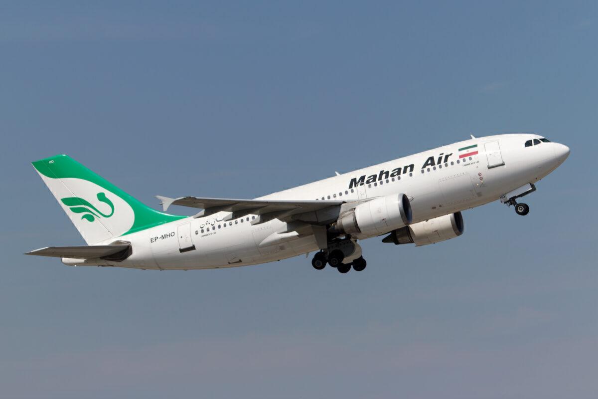 A Mahan Air Aurbus 310 takes off from Munich airport