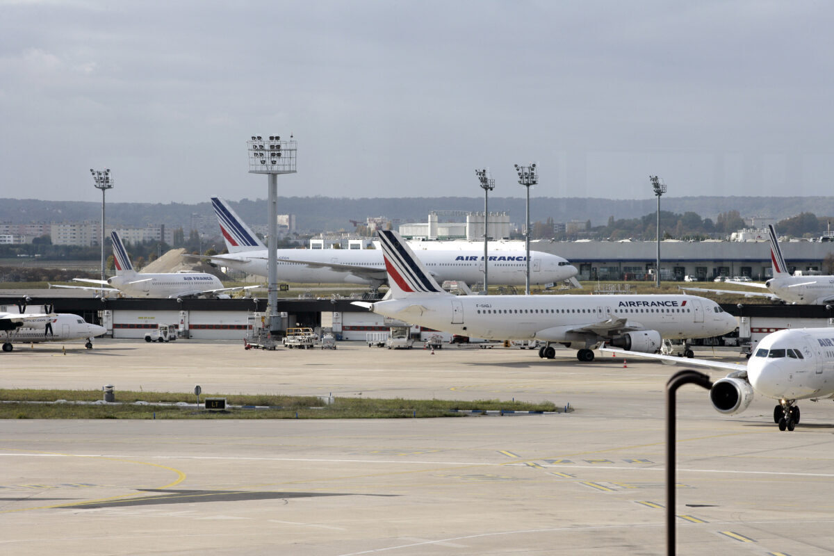 Picture taken of Air France's planes Getty