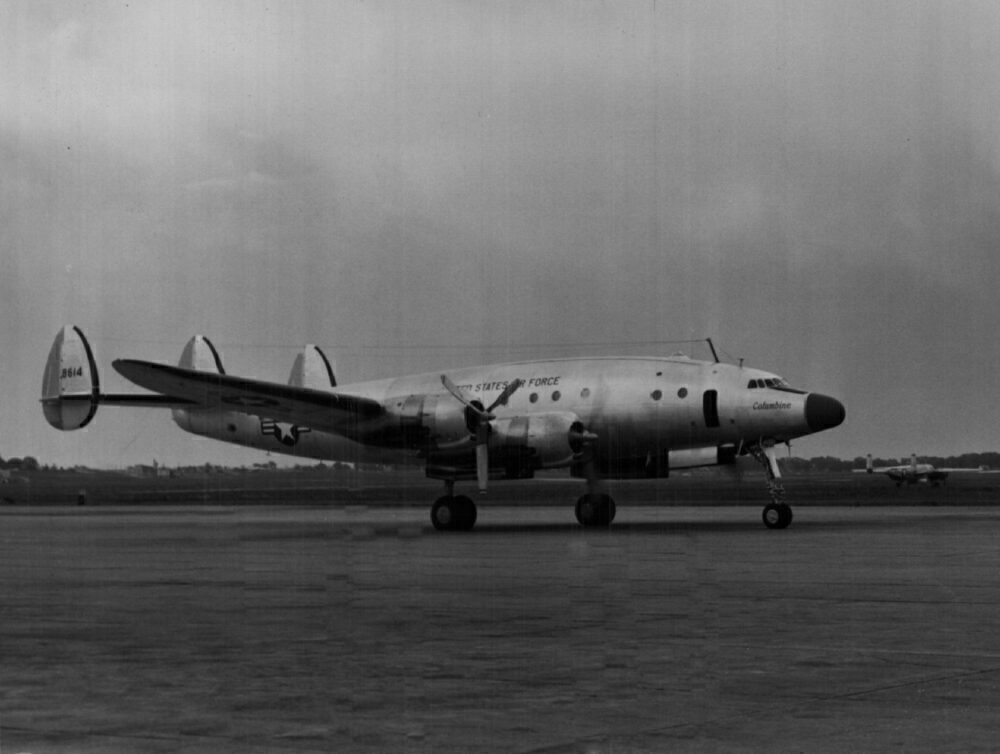 "6-28-1951; Presidential Plane; General Dwight D. Eisenhower's Constellation ""Columbine."";"