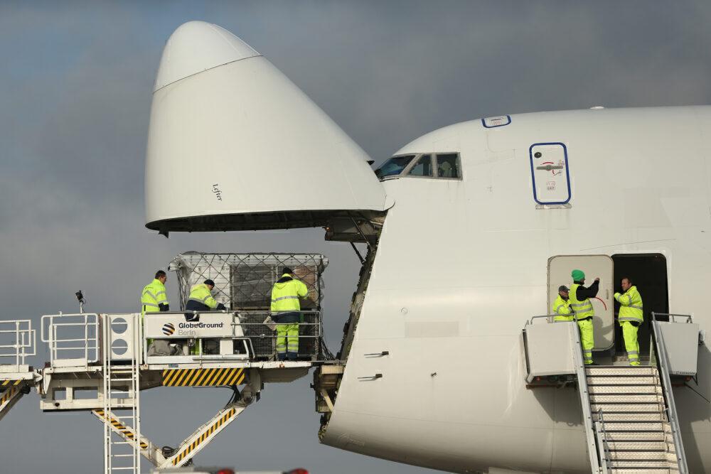 747 nose door
