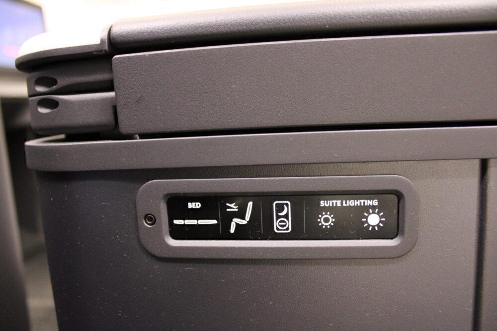 Smaller seat control panel