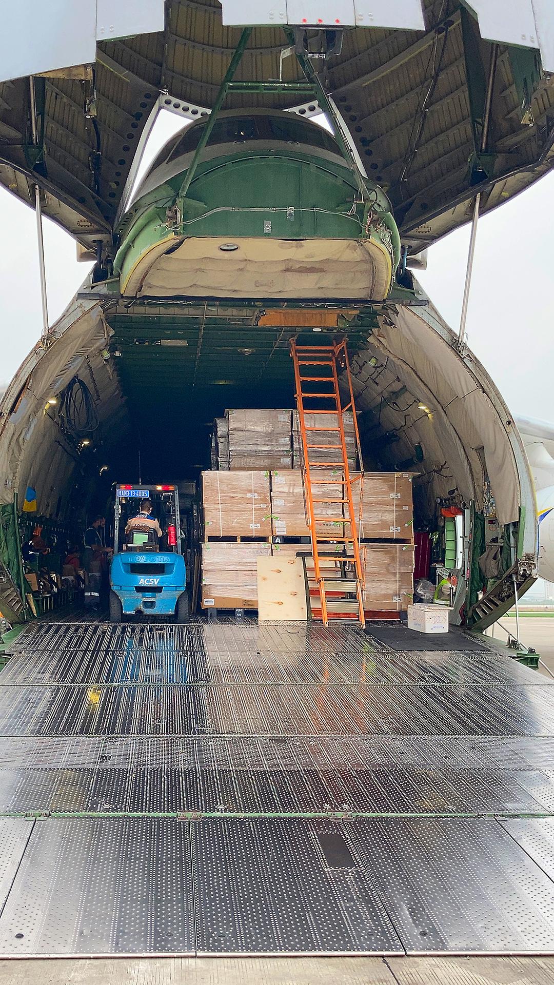 Cargo in an AN-124