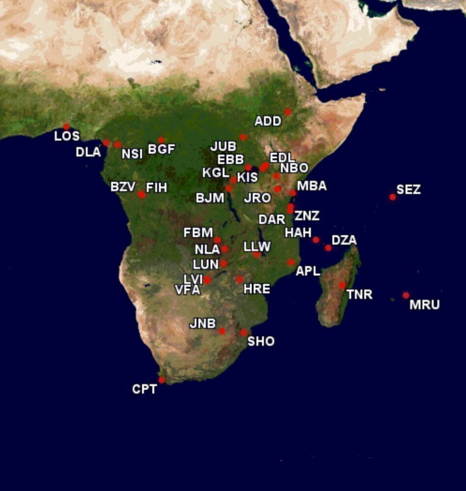 Kenya Airways Embraer routes