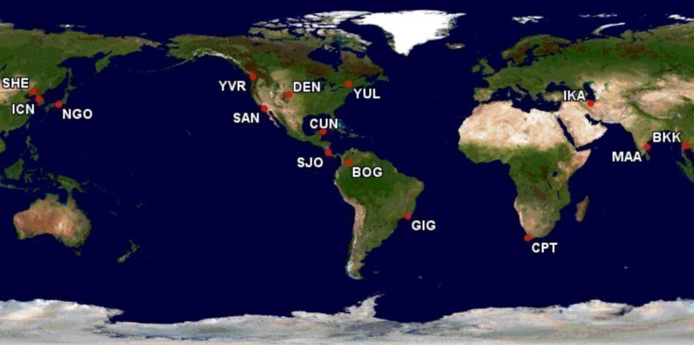 Lufthansa A340 routes