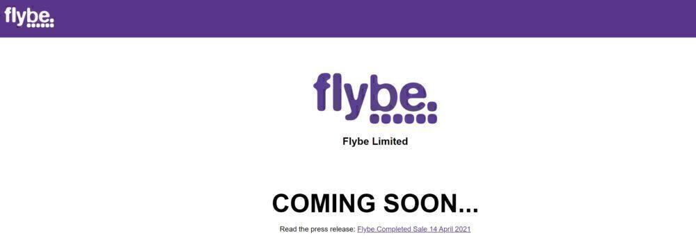 Flybe's new website placeholder