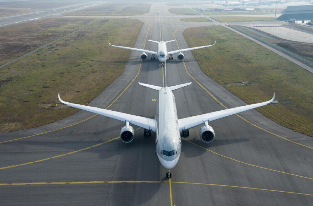 Qatar Airways A350-900 and A350-1000