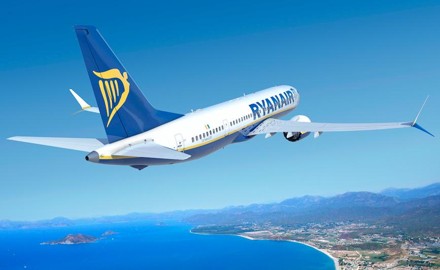 Ryanair Boeing 737 MAX in flight